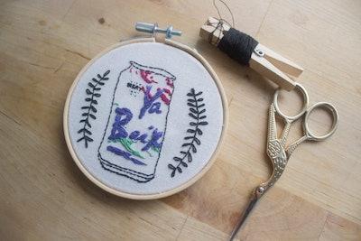 Ya Boix Lacroix Hand Embroidered Hoop