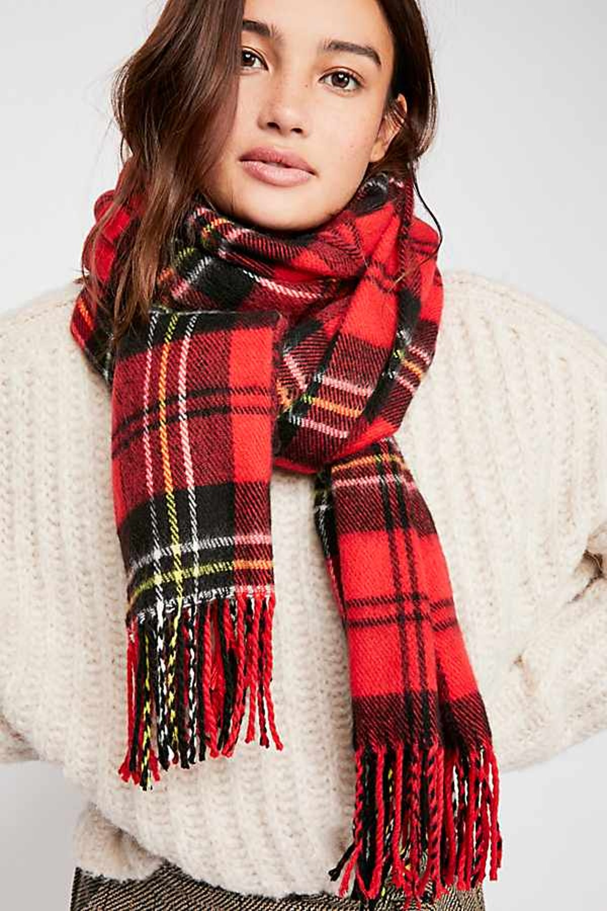 Bailey Brushed Plaid Scarf