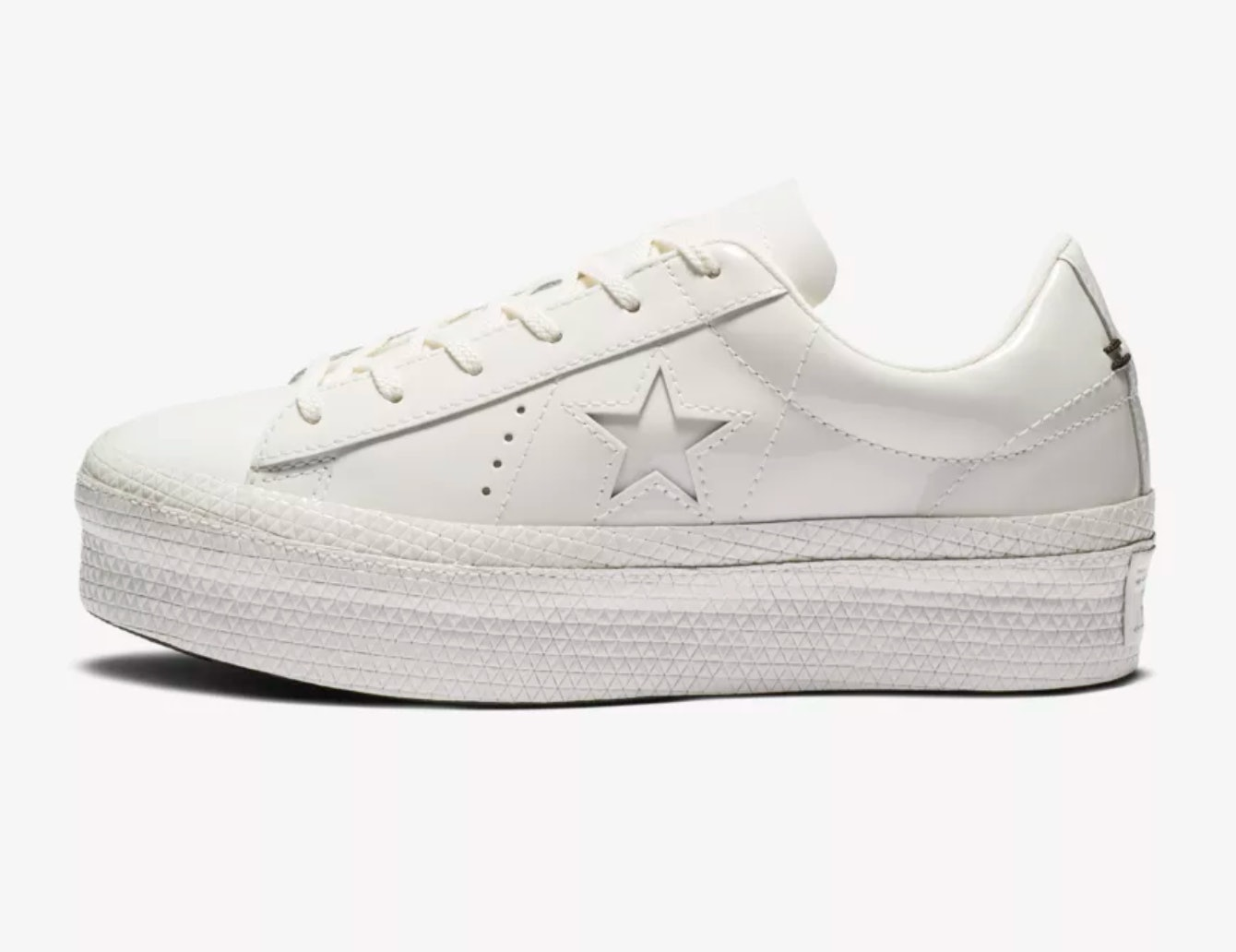 81412409cbf2 Converse s One Star Platform Patent Sneakers Are  90s Cool In A Shoe
