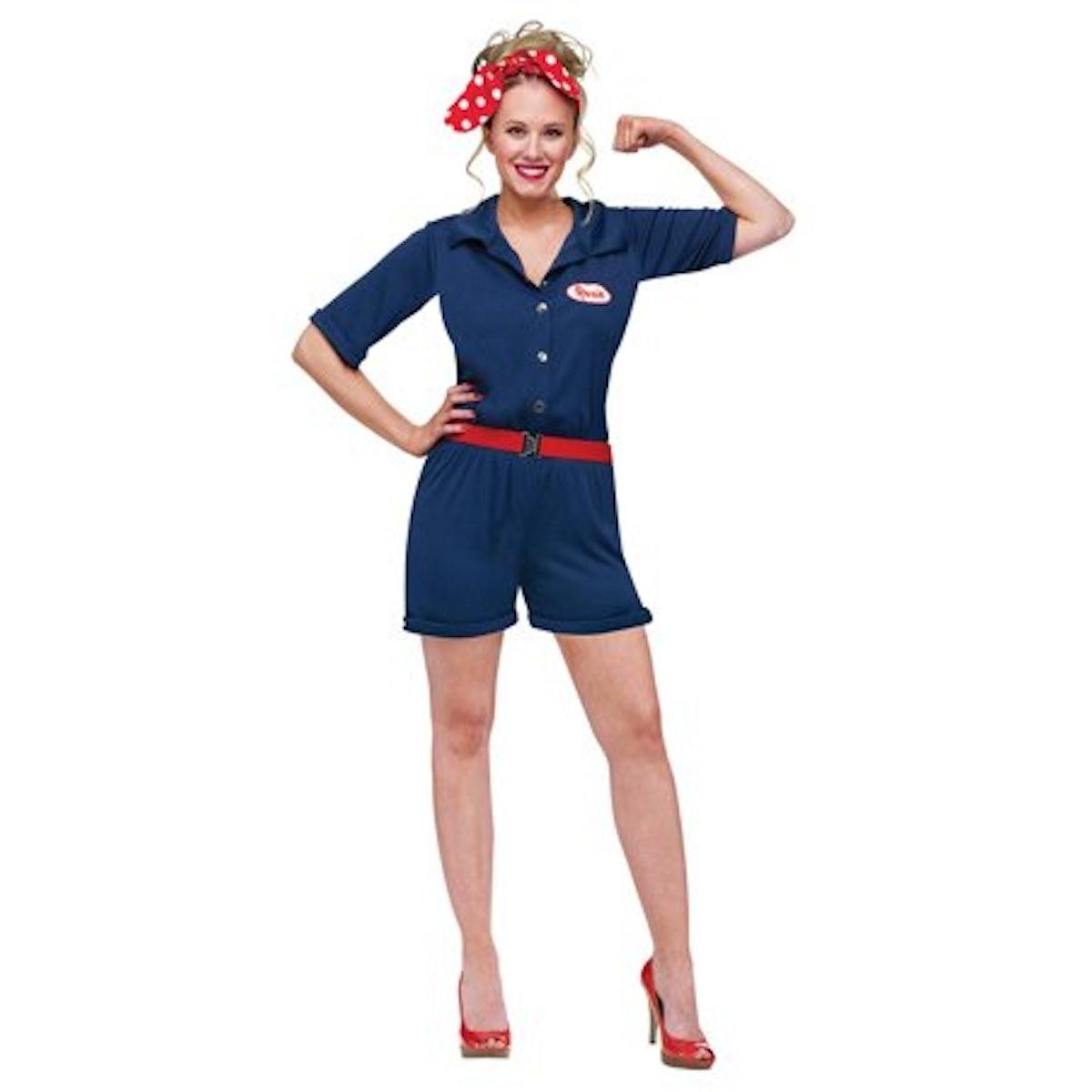 FUNWRD Rosie The Riveter Adult Costume
