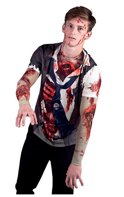 Men's Zombie with Mesh Sleeves Costume
