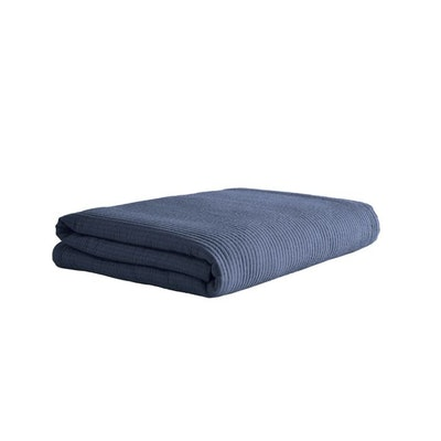 Navy Cotton Coverlet