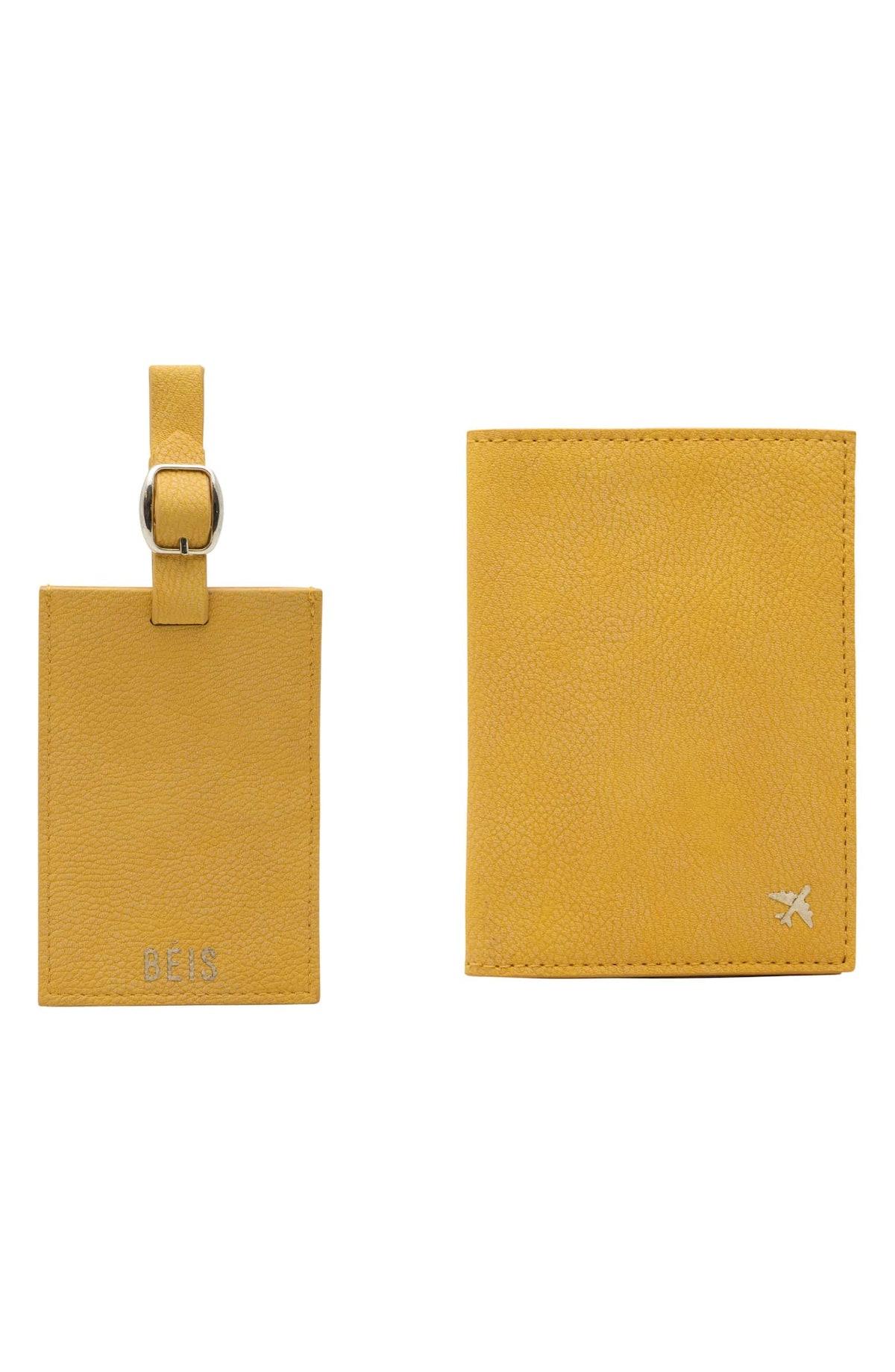 Travel Luggage Tag & Passport Holder Set