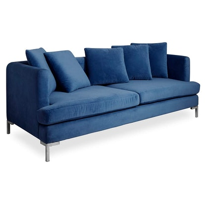 Now House by Jonathan Adler Pierre Cushion Sofa, Milan Navy