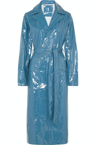 Glossed Trench Coat