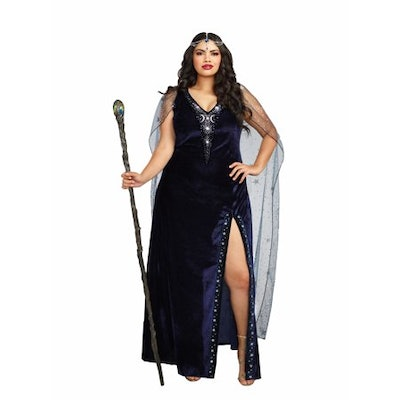 Dreamgirl Women's Plus-Size The Sorceress Dramatic Velvet Costume Gown