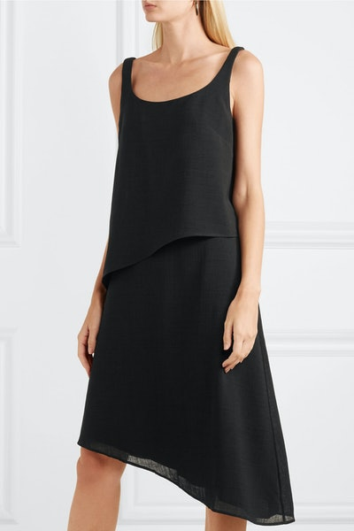 Asymmetric Layered Voile Dress