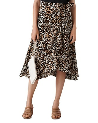 Leopard Print Wrap Skirt