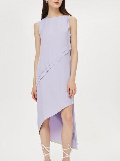 Shoulder Step Hem Dress