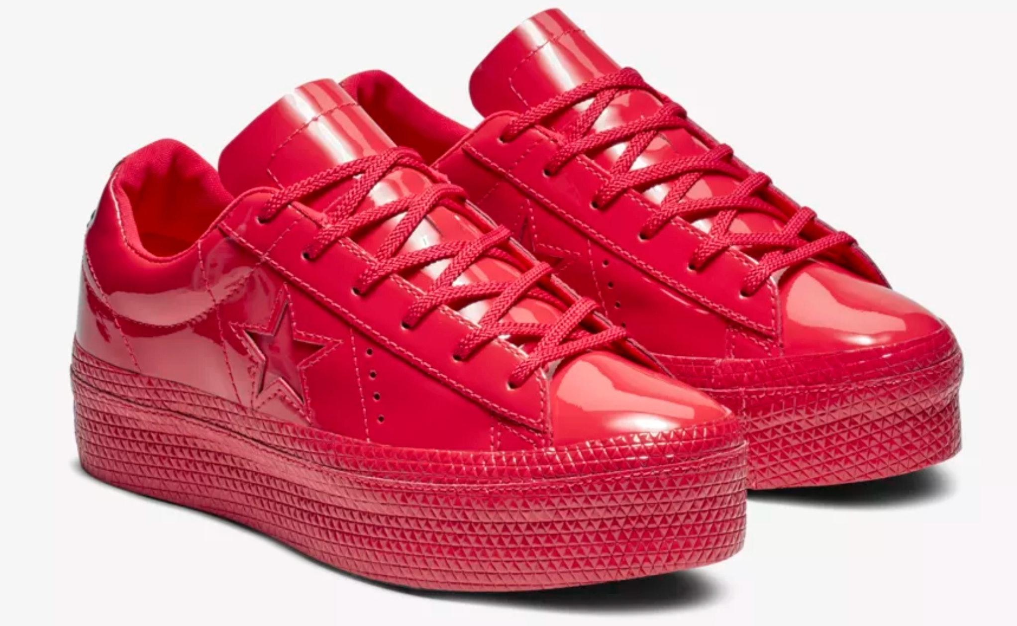 One Star Platform Patent Sneakers