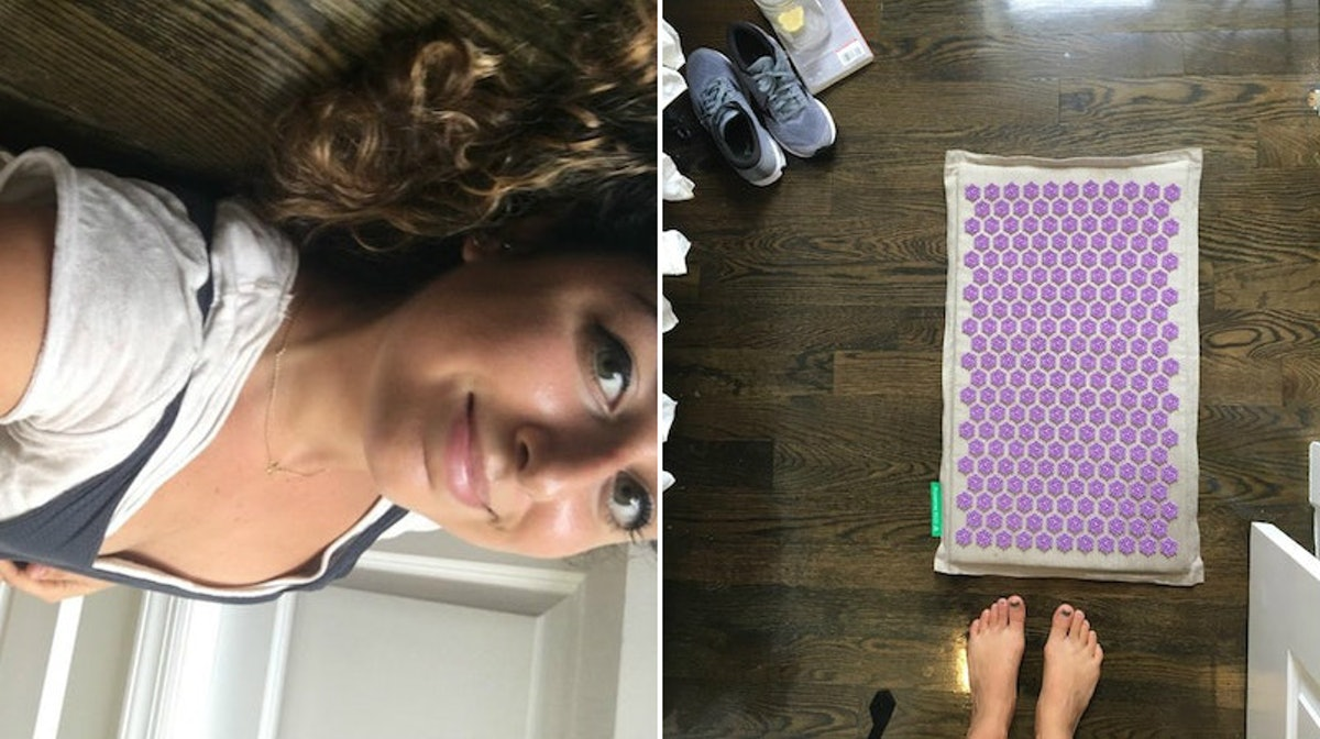 What Is An Acupressure Mat? I Laid On One To Soothe My Back Pain & Here's What Happened