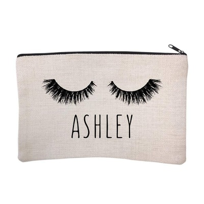 Personalized Eyelash Cosmetic and Makeup Bag