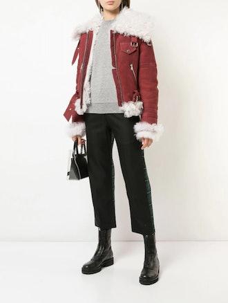 Zippered Shearling Jacket