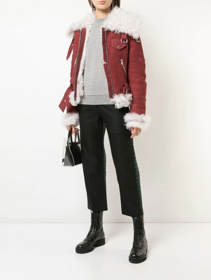 Zippered Shearling Jacket