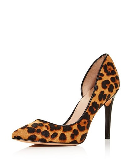London Printed Calf Hair High-Heel Pumps