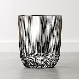 Veer Black Waste Basket