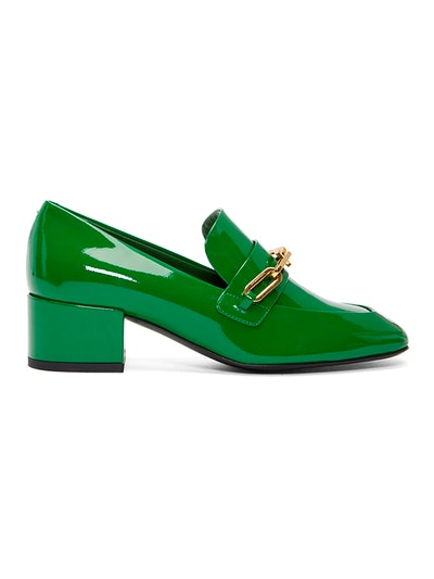 Green Patent Chillcot Heeled Loafers