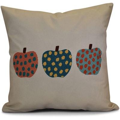 """Simply Daisy 16"""" x 16"""" 3 Little Pumpkins Geometric Print Pillow"""