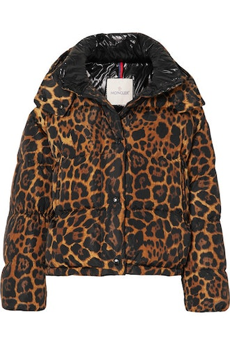 Leopard Print Quilted Jacket