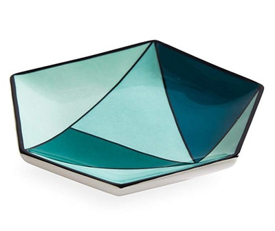 Facet Small Decorative Tray in Green