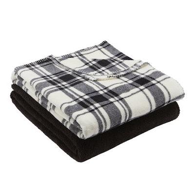 Mainstays Fleece Plush Throw Blanket, 2pk, Buffalo Plaid