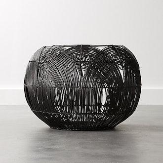 Archer Black Rattan Basket
