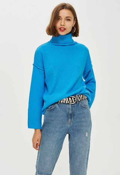 Super Soft Ribbed Roll Neck Jumper