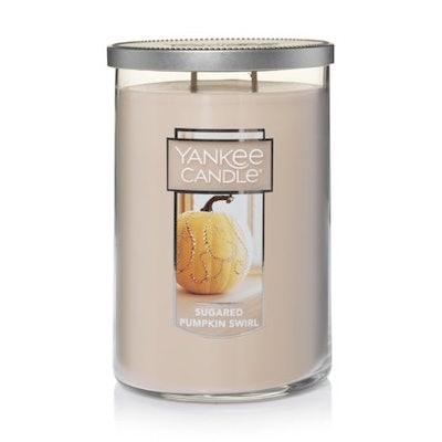 Yankee Candle Large 2-Wick Tumbler Candle, Sugar Pumpkin Swirl