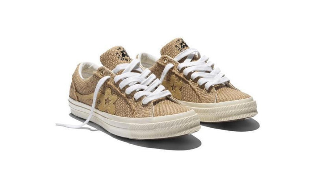 Acuoso dominio Hasta  New GOLF le FLEUR* x Converse Sneakers Are On The Way & They're Made Of  Burlap?