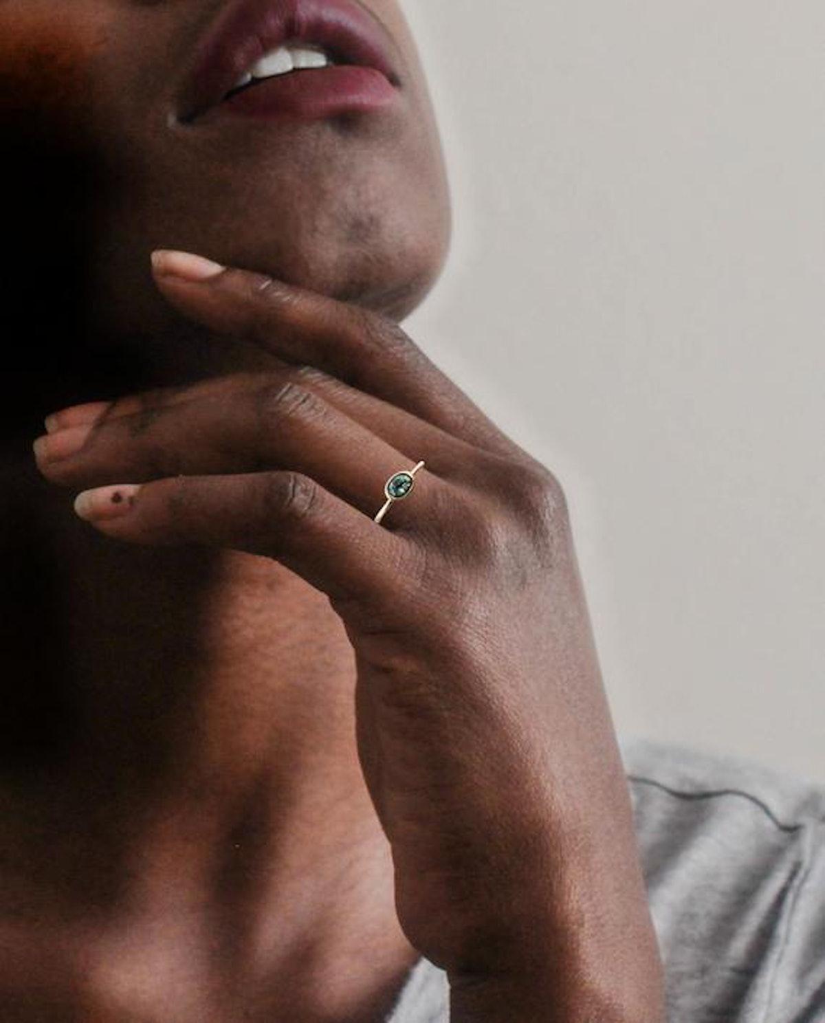 Montana Sapphire Engagement Ring | 14K Yellow Gold Ring