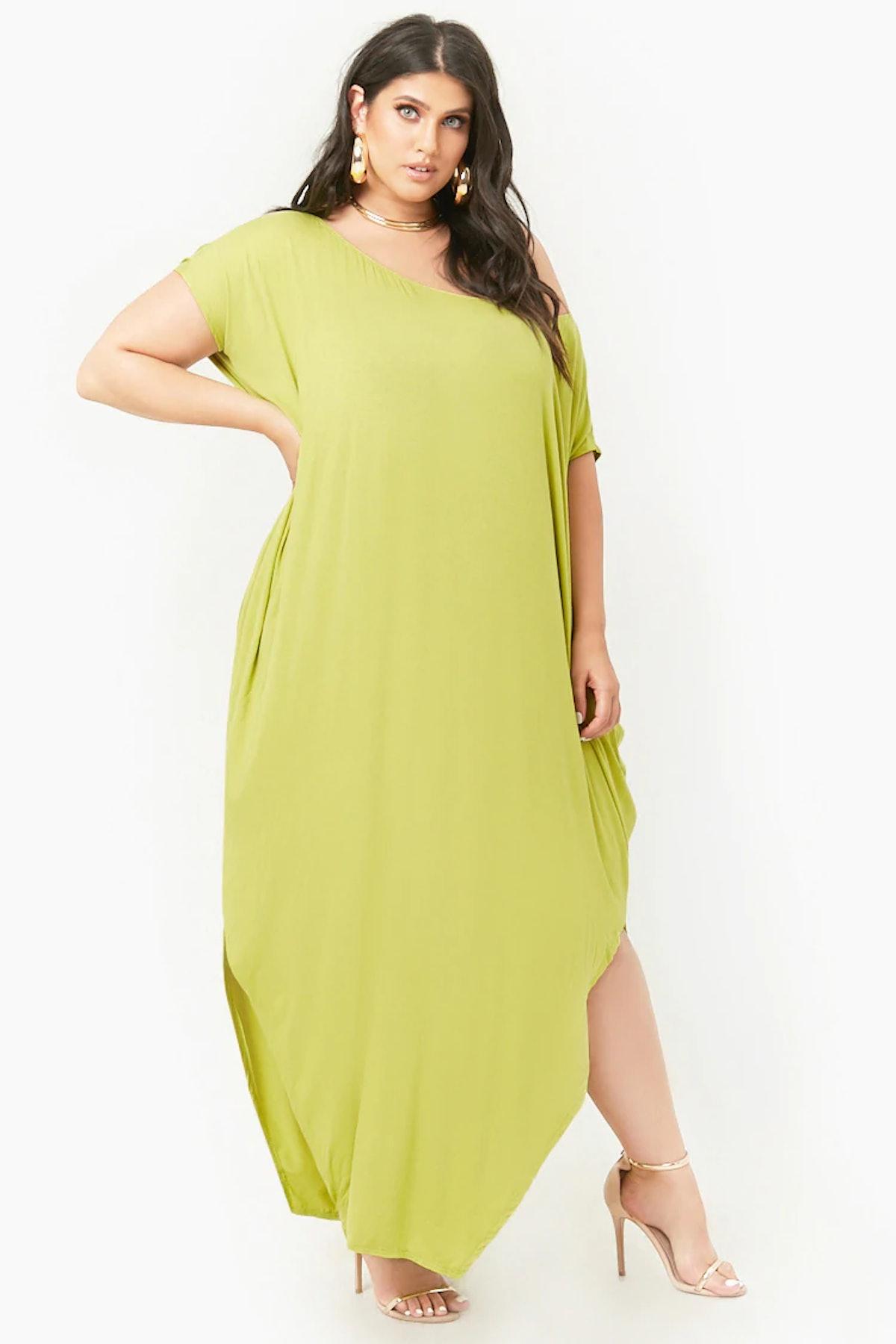 Plus Size Billowy Maxi Dress