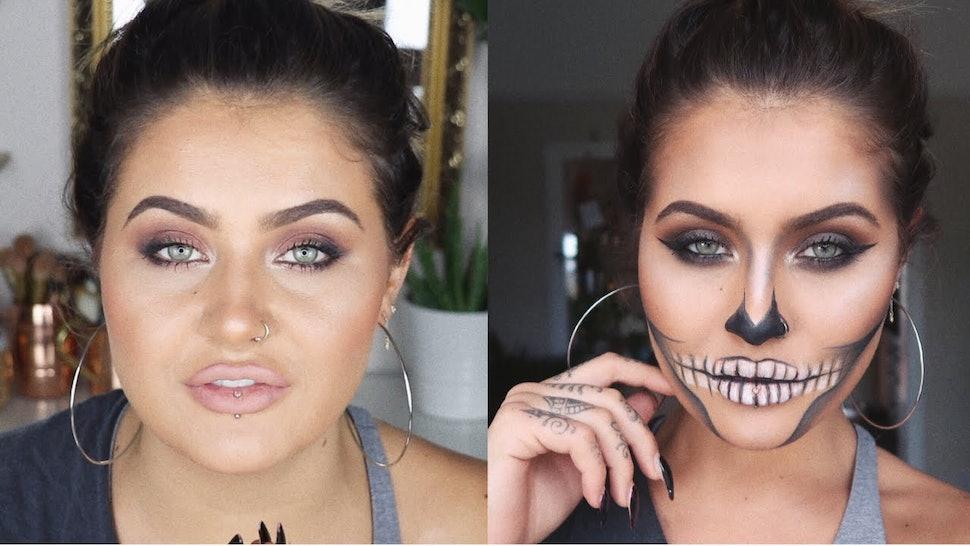 11 Halloween Makeup Tutorials Using Drugstore Products For An - Halloween-makeup-tutorial