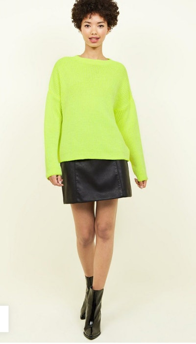 Yellow Slouchy Neon Jumper