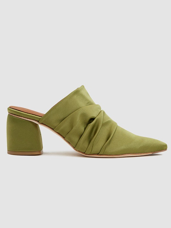 5e38e5a29ea Emma Roberts' Green Mules Will Convince You To Upgrade Your Shoe ...