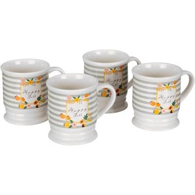 Mainstays 4-Piece Harvest Floral Mug Set