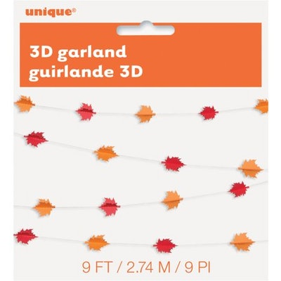 3D Paper Fall Leaves Garland