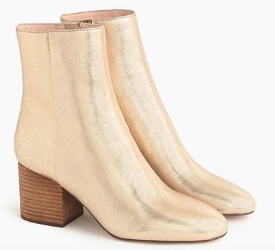 Sadie Ankle Boots In Metallic Gold
