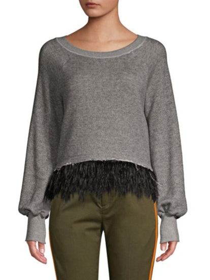 Super Fine Feather-Hem Sweater