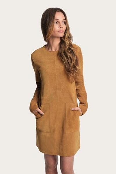 Melissa Suede Pocket Dress