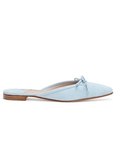 Ballerimu 10 Light Blue Suede Mule Flats