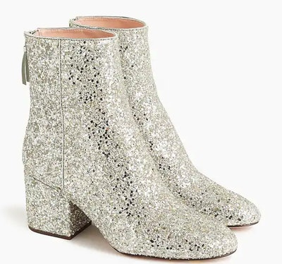 Sadie Ankle Boots In Glitter Medal Bronze