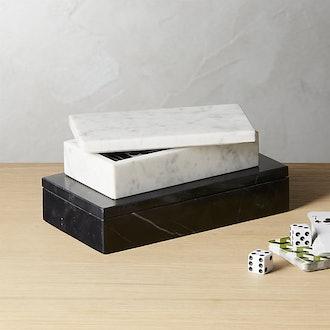 Small White Marble Box