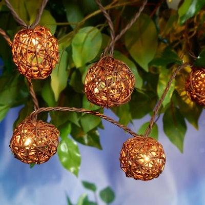 Better Homes & Gardens Wicker Ball String Light Set