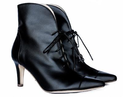 Paris Lace-Up Heel Bootie