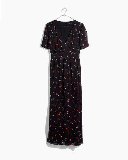 Tulip-Sleeve Maxi Dress in Sweet Blossoms