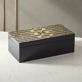 Coins Black And Gold Jewelry Box