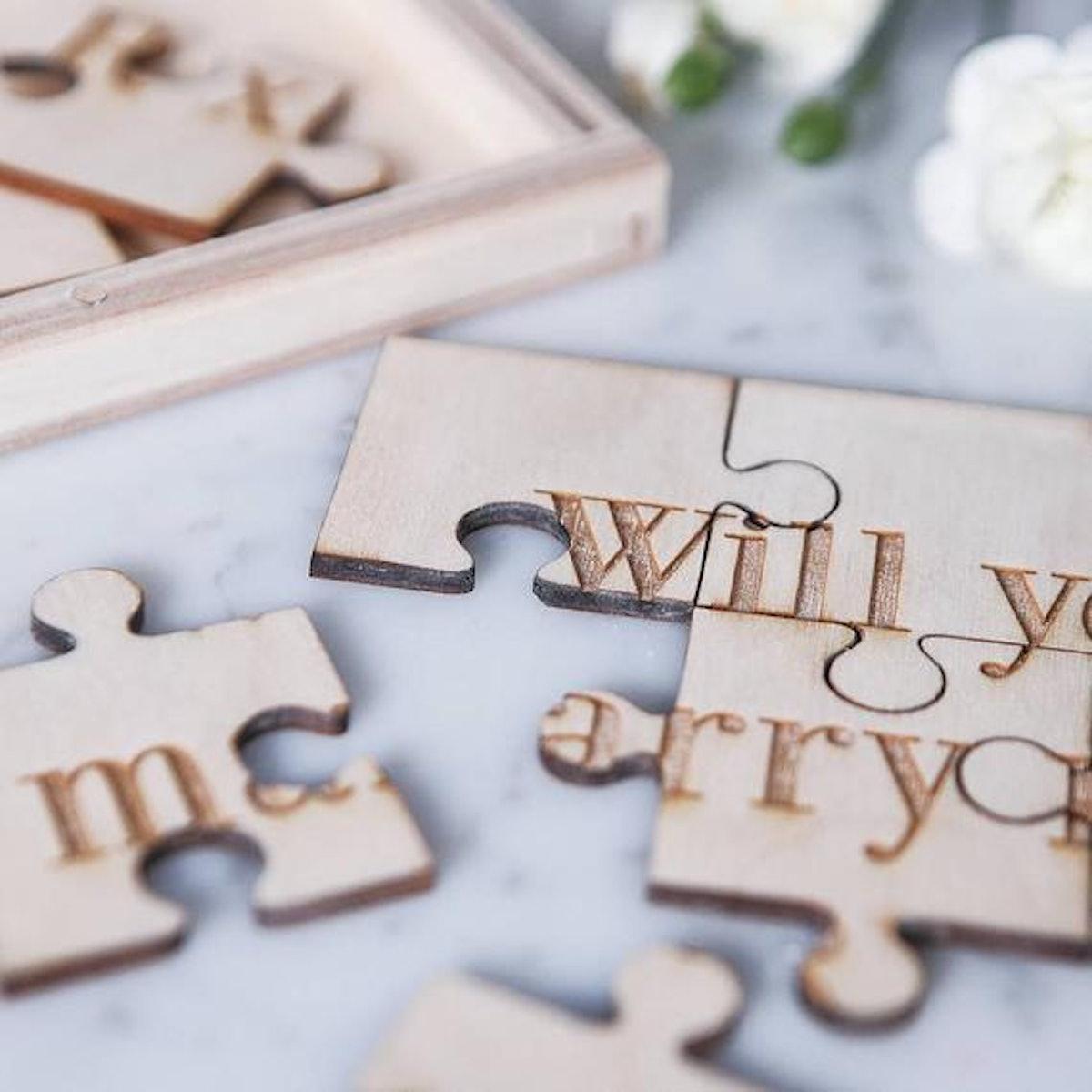 Personalized Proposal Jigsaw Box