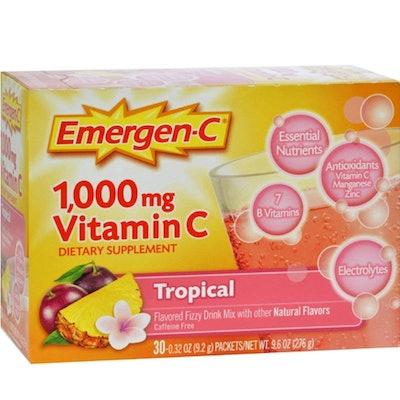 Emergen-C Vitamin C Fizzy Drink Mix, 1000 mg, Tropical