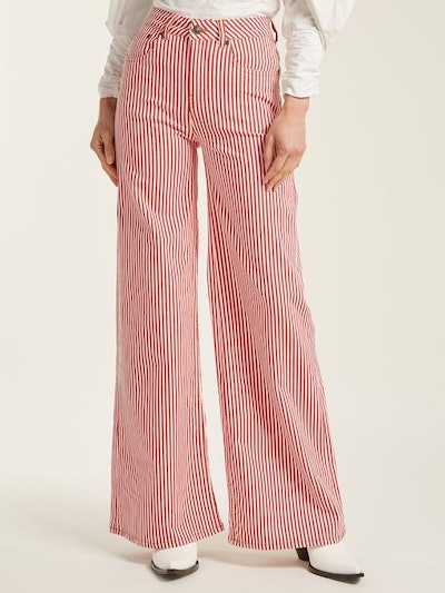 Mega Loon high-rise striped jeans