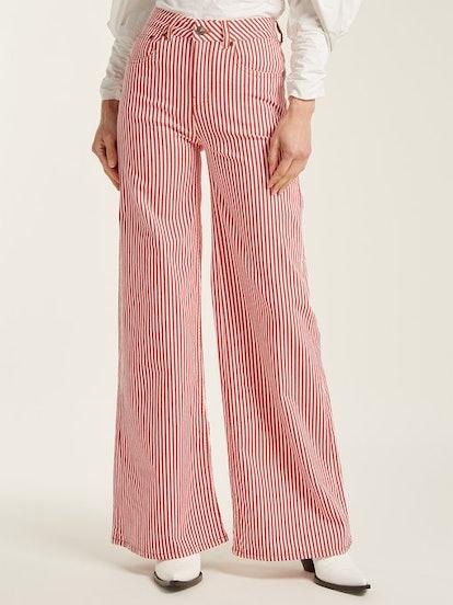 Mega Loon high-rise striped jeans